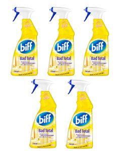 Biff Bad Total Zitrus Badreiniger Reiniger 5x750ml Sprühflasche Reinigungsmittel