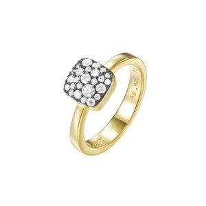 Joop Damen Ring Edelstahl Gold M PAVE PRG90798E1, Ringgröße:57 (18.1 mm Ø)