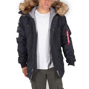 ALPHA INDUSTRIES ARCTIC DISCOVERER Herren Winter Parka, Größe:XL, Alpha Industries Farben:03 Black