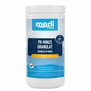 mediPOOL pH-Minus Granulat, pH Senker, pH Regulator, Wasserpflege, Granulat für den Pool Inhalt:1.5 kg