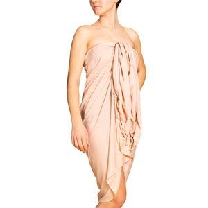 PANASIAM Sarong unicolor, Farbe/Design:Beige, Größe:190x116cm
