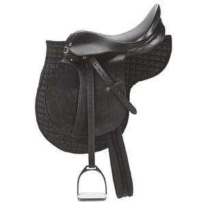 Kerbl Pony-Sattel Leder schwarz 32196