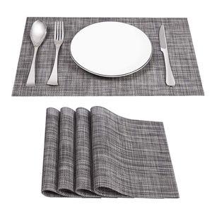 4er Set Platzsets Rutschfest Abwaschbar Tischsets,PVC Abgrifffeste Hitzebeständig Platzdeckchen,Schmutzabweisend und Waschbare,Platz-Matten für Küche Speisetisch