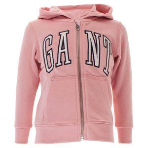 Gant Kinder Unisex Full Zip Kapuzenpullover Sweat Hoodie, Größe:110/116, Farbe:Rosa(659)