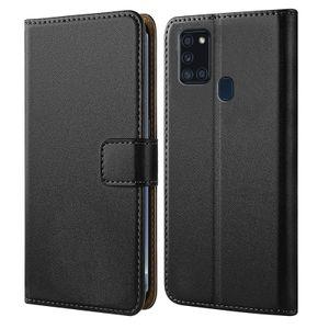 Samsung Galaxy A21s Handytasche Schutz Hülle mit Aufstellfunktion Handyhülle Klapp Tasche Etui mit Kartenfächer Flip Cover TPU innen Schale