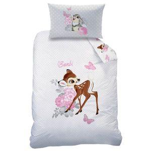 Baby Flanell Wende Bettwäsche Disney Bambi 100 x 135 cm Biber