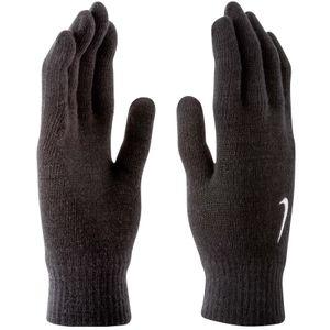 Nike Swoosh Knit Handschuhe 001 black/white L/XL