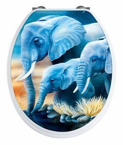 Wenko WC-Sitz Elefant mit 3D-Effekt, MDF