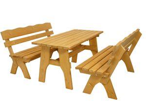 DEGAMO Gartengarnitur Sitzgruppe Gartenmöbel Garnitur FREITAL 3-teilig 150cm, Holz Kiefer massiv imprägniert