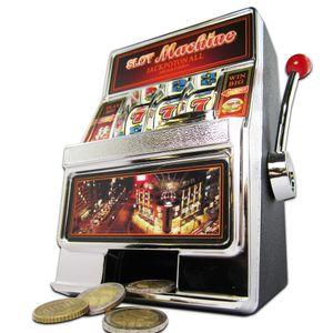 Slot Machine Spardose - Einarmiger Bandit Spielautomat mit Sound und Licht, Geldgeschenk