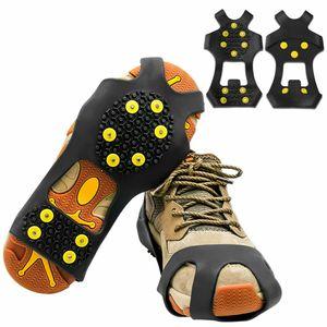 Kirinsport SchneeSpikes Größe 34-49 mit 15 Zähne AntiRutsch Schuhspikes langlebiges Silikon