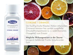 FLORAGE 100ml Citrone/Orange Saunaduft Konzentrat Saunaaufguss Saunaöl