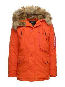 Alpha Industries Herren Winterjacke Polar flame orange L