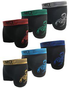 Garcia Pescara Uomo5 Herren Boxershorts Größe M/L 6er Pack Skorpion Print Druck Shorts Unterhose Unterhosen Short Männer Mann Herren Boxershort Boxer Boxers Pants
