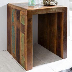 WERAN Beistelltisch Massivholz Couchtisch Kommode Nachttisch Schlafzimmer Nachtkonsole Shabby-Chic