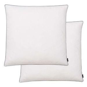 Huicheng Kopfkissen Kissen 2 Stk. Daunen- / Federfüllung Leicht 80 x 80 cm Weiß
