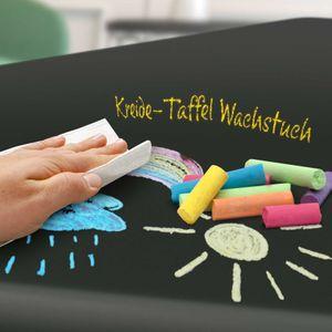 TAFEL Wachstuch Kreide Tischdecke abwaschbar Tafelfarbe Dunkel 140x160 cm