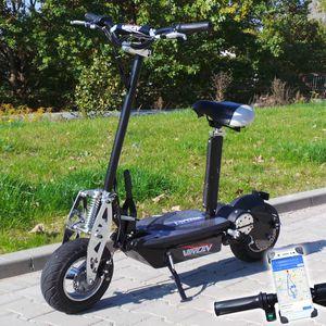 "Elektro- Scooter 800 Watt - ""VIRON"" E-Scooter 800 W / 36V Elektroroller E Scooter mit Smartphone-Halterung Roller"