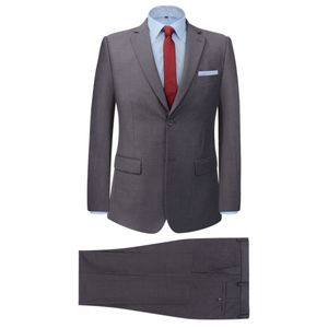 2-tlg. Business-Anzug für Herren Grau Gr. 50
