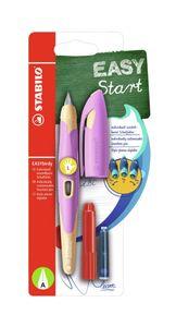 Ergonomischer Schulfüller für Linkshänder - STABILO EASYbirdy - inklusive Patrone Pastel Soft Pink/Apricot Feder A