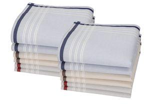 Betz Herren Stoff Taschentücher Set Lord 1 100%Baumwolle, 43x43 cm, Dessin 35, Menge - 12 Stück