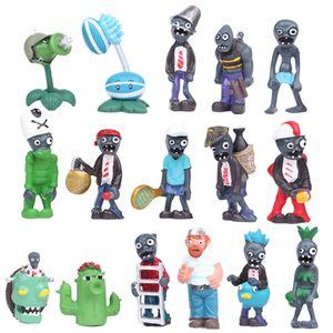 16pcs Pflanzen Vs Zombies Kleine Figur Spielzeug Puppe Ornamente Micro Landscape Cake Decoration