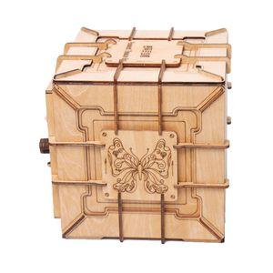 Holz 3D Puzzles Schatzkiste Spielzeug Puzzle Puzzle Lernspielzeug Sammlerstücke