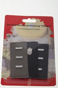 3er Set Hosenbunderweiterung, Erweiterung für Hosen, Hosenerweiterung in 3 Farben