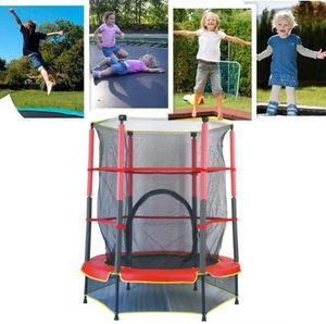 Kinder Trampolin Kindertrampolin mit Sicherheitsnetz für Garten Haushalt 140cm Nutzlast 50KG