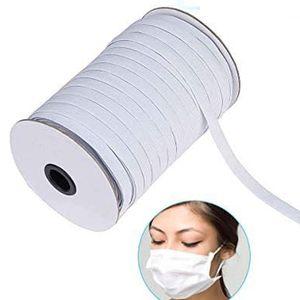 Gummibänder 195 Yards Länge 5mm Weiß DIY Gummilitze Geflochtenes Gummiband Strickband Nähen