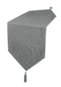 Tischläufer grau 40x140 cm Damast Streifen Tischband modern Tischdecke Mitteldecke