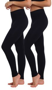 Yenita® THERMO Leggings 2er Pack, mit Innenfleece S/M schwarz