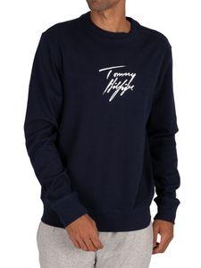 Tommy Hilfiger Herren Lounge Track Sweatshirt, Blau XL