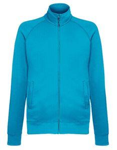 Fruit of the Loom Herren Lightweight Sweat Jacke Pullover, Größe:2XL, Farbe:Azure Blue