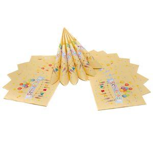 Oblique Unique 20 Servietten für Schuleinführung Schulanfang Einschulung Deko Schulkind ABC Zuckertüten Luftballons