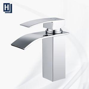 Wasserhahn Bad Armatur Wasserfall Mischbatterie Bad Einhebelmischer Badarmatur chrom Waschbecken Waschtischbatterie für Badezimmer Waschtisch Armatur