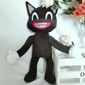 Siren Head Plüschtier Horror Cartoon Cat Plush Gefüllte Puppe Scary Monster Toy, Main Farbe:Black Cat,25cm