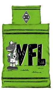 Borussia Mönchengladbach BMG Kinder Bettwäsche Jünter VFL  Fussball 1. Bundesliga Green