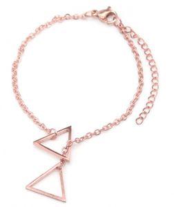 gliederarmband Triangles Damen Edelstahl Roségold
