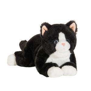 Teddy Hermann 91835 schwarze Katze liegend ca. 30cm Plüsch Kuscheltier Schlenker