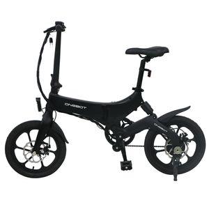 "16"" Zoll Elektrofahrrad Klapprad E-Bike 36V 6.4Ah 250W Electric Bike Pedelec Fahrrad mit Motor 3 Gänge bis 25 km/h, Schwarz"