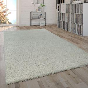 Hochflor-Teppich, Shaggy-Teppich, Moderner Wohnzimmer-Teppich In Beige Creme, Grösse:120x170 cm