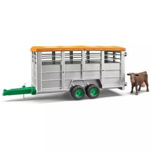 Bruder Viehtransportanhänger mit 1 Kuh 1:16 02227