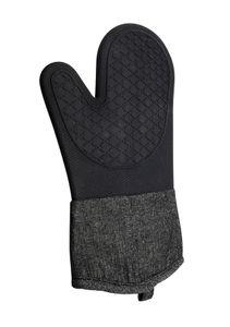 TOPFHANDSCHUH Jeans Schwarz Silikon 33cm Küchenhandschuh Ofenhandschuh Grillhandschu Grill Handschuh Backhandschuhe Kochhandschuh 99