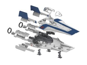 Revell Resistance A-wing Fighter, blue - Modellbausatz; 6762