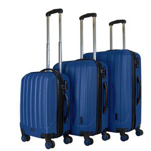 Packenger Premium Koffer 3er-Set Velvet M, L+XL in Dunkelblau, 54x31x78 cm; 103-003P-02
