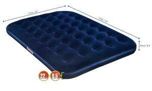 Luftbett / Gästebett von Bestway aufblasbar für 2 Personen, beflockt, Vinyl-Boden, Coil-Beam-Constuction, blau