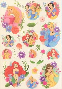 Disney Prinzessinen Wandaufkleber Wandsticker 24tlg