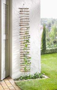 Deko-Gitter Reisigstäbe mit Hanfschnüren Maße: 150 x 25 cm, schöner Blickfang