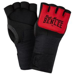 BENLEE Rocky Marciano Neopren Gel-Handschuhe Unisex – Erwachsene Schwarz-Rot, Größe:XL